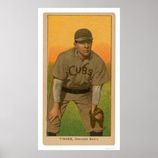Joe Tinker Baseball Card 1909 Poster