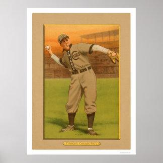 Joe Tinker Cubs Baseball 1911 Poster