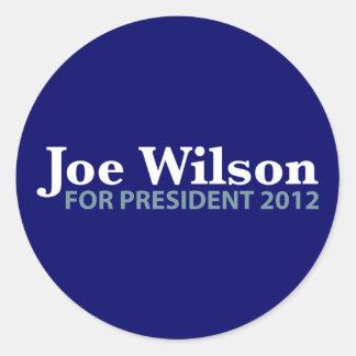 Joe Wilson for President 2012 Classic Round Sticker