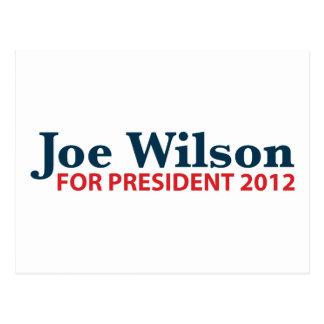 Joe Wilson for President 2012 Postcard