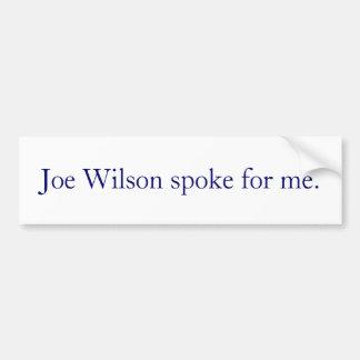 Joe Wilson habló para mí Etiqueta De Parachoque