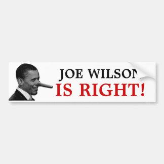 JOE WILSON IS RIGHT BUMPER STICKER