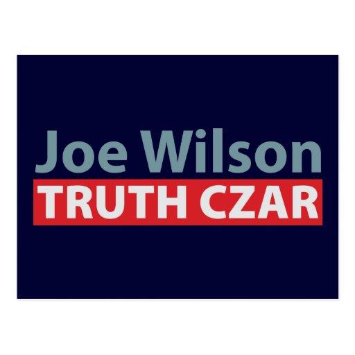 Joe Wilson Truth Czar Postcard