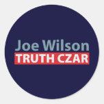 Joe Wilson Truth Czar Round Stickers