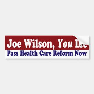 Joe Wilson, usted miente pegatina para el parachoq Pegatina Para Auto
