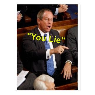 Joe Wilson You Lie Postcard