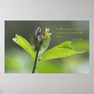 Joel 2:25 Scripture Poster (Version C)