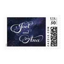 Joel and Ana galaxy design Postage