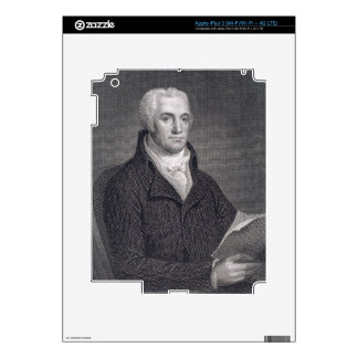 Joel Barlow (1754-1812), engraved by Asher Brown D Decals For iPad 3