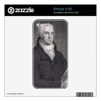 Joel Barlow (1754-1812), engraved by Asher Brown D Decals For The iPhone 4