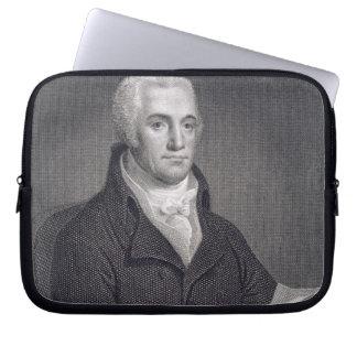 Joel Barlow (1754-1812), engraved by Asher Brown D Laptop Computer Sleeve