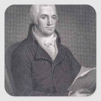 Joel Barlow (1754-1812), engraved by Asher Brown D Square Sticker