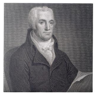 Joel Barlow (1754-1812), grabado por Asher Brown D Tejas Ceramicas