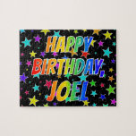 "[ Thumbnail: ""Joel"" First Name, Fun ""Happy Birthday"" Jigsaw Puzzle ]"