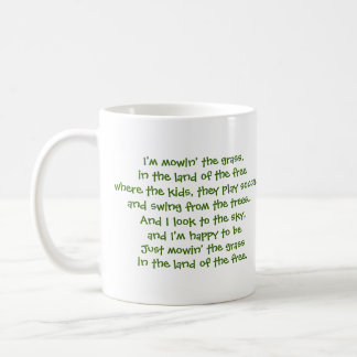 Joel J Mug with Lawnmower Lyrics!