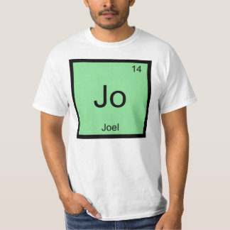 Joel  Name Chemistry Element Periodic Table T-shirts
