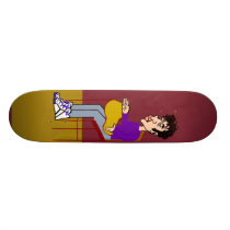 Joel Sitting Skateboard