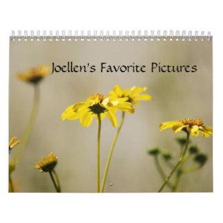 Joellen's Favorite Pictures Calendar 2009