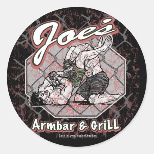 Joes_armbar_grill_1 Sticker