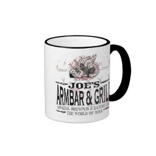 Joe's Armbar & Grill MMA Gear Ringer Coffee Mug