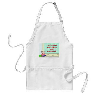 joes bar and grill and whatever adult apron