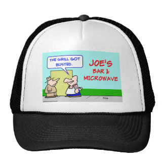 joes bar and grill microwave busted trucker hat