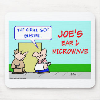 joes bar and grill microwave busted mouse pad
