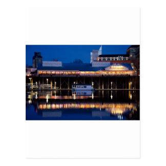 Joe's Crabshack at night Postcard