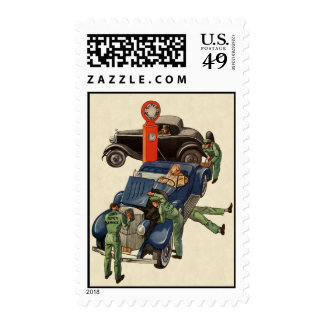 Joe's Full Service Gas Station, Vintage Business Postage