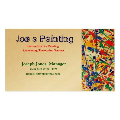 Joe s Painting Business Cards