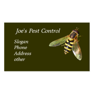 Joe's Pest Control ~ biz card