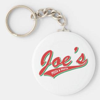 Joe's Pizza & Pasta Basic Round Button Keychain