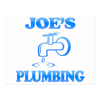 Joe's Plumbing Postcard