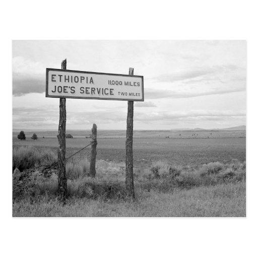 Joe's Service, 1936 Post Cards