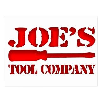 Joe's Tool Company Postcard