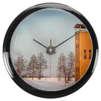 Jõesuu watchtower Lake Võrtsjärv Estonia Aquavista Clock