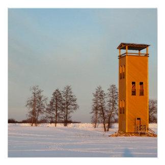 Jõesuu watchtower Lake Võrtsjärv Estonia Poster