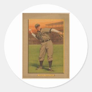 JoeTinker Chicago Cubs 1911 Classic Round Sticker