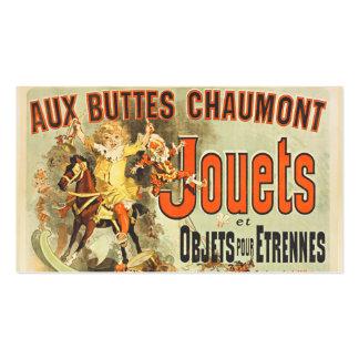 Joets Friends Vintage Toy Poster France Business Card
