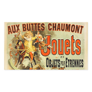 Joets Friends Vintage Toy Poster France Double-Sided Standard Business Cards (Pack Of 100)
