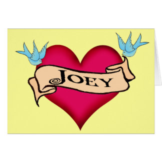 Joey - camisetas y regalos de encargo del tatuaje tarjeta de felicitación