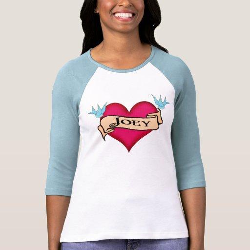 Joey - Custom Heart Tattoo T-shirts & Gifts