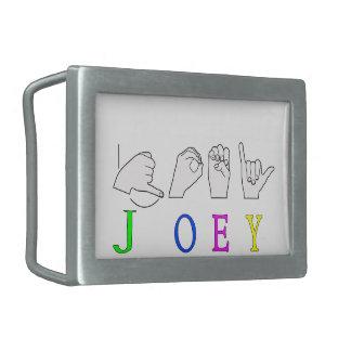 JOEY  NAME SIGN ASL FINGERSPELLED BELT BUCKLES