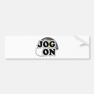 Jog On Bumper Sticker