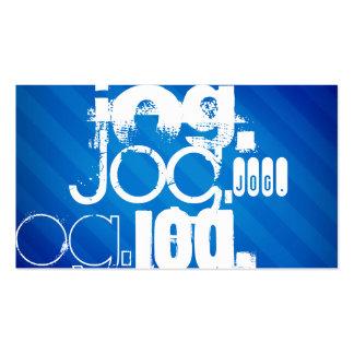 Jog; Royal Blue Stripes Business Card Template
