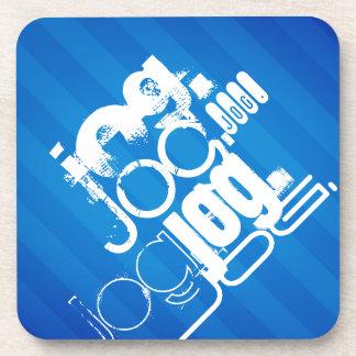 Jog; Royal Blue Stripes Drink Coaster