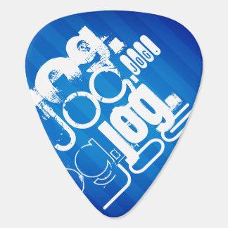 Jog; Royal Blue Stripes Guitar Pick