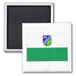 Jõgeva Flag 2 Inch Square Magnet