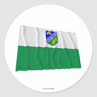 Jõgeva Waving Flag Classic Round Sticker