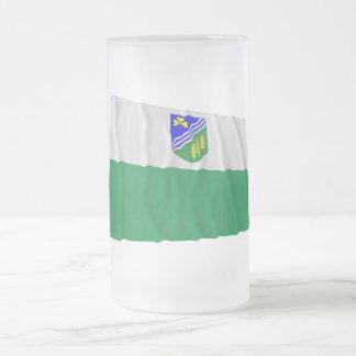 Jõgeva Waving Flag Frosted Glass Beer Mug